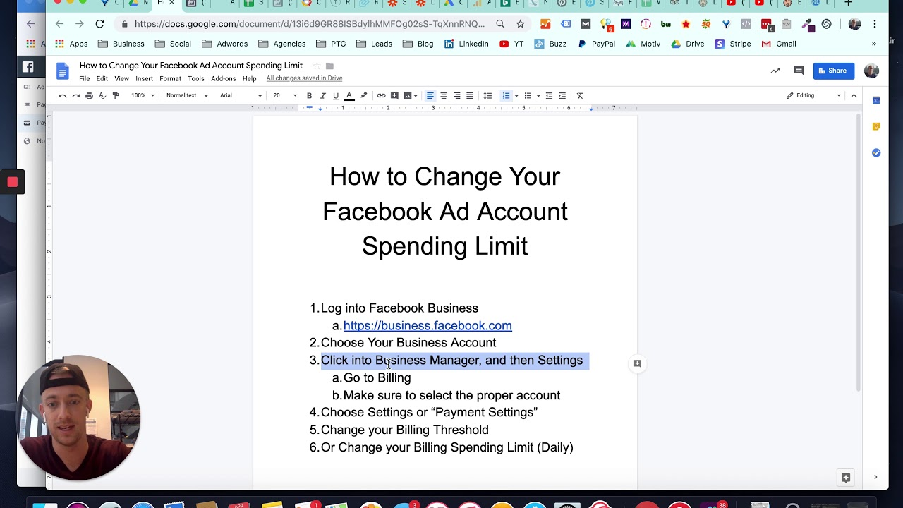 How to Update Facebook Billing Threshold