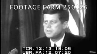 President Kennedy's Address On Cuba 250126-03 | Footage Farm