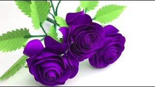Paper Craft | Paper Flowers | Paper Crafts For School | Paper Rose Making Easy | Paper Craft Ideas