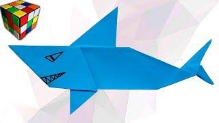 Как сделать АКУЛУ из бумаги. Акула оригами своими руками. DIY поделки