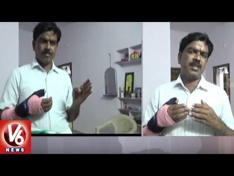 Task Force Police Beats Up Innocent Man In Sircilla, Victim Demands Justice | V6 News
