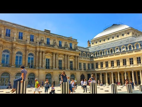 Paris Walk - PALAIS ROYAL Courtyard and Gardens - France
