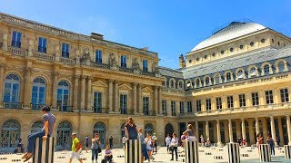 PARIS WALK | Palais Royal Courtyard and Gardens | France