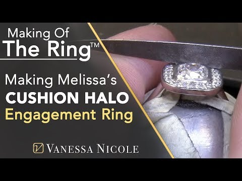 cushion-cut-halo-engagement-rings---making-melissa's-custom-engagement-ring