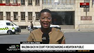 Malema back in court for discharging a weapon in public
