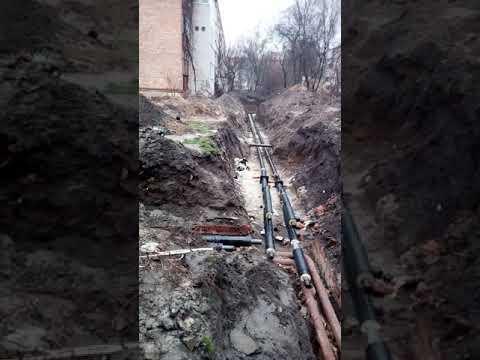 Замена теплотрассы зимой в Черкассах 2