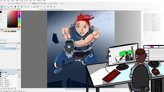 Zarya Drawn in a DBZ Style Speed Painting