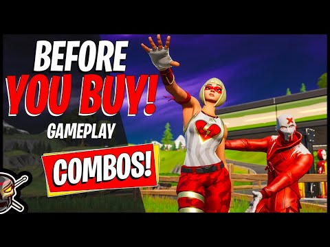 New CRUSHER And EX Skin Review In Fortnite! Combos/Gameplay (Fortnite Battle Royale)