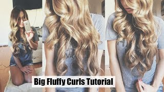 How To Big Fluffy Curls Tutorial ft. Luxury For Princess Extensions | HAUSOFCOLOR Thumbnail