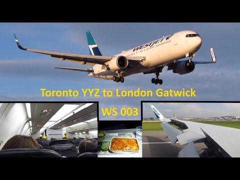 TRIP REPORT | WESTJET (Economy) | Toronto YYZ to London Gatwick | Boeing 767-300ER | Full Flight!