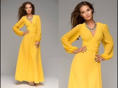 Платье с длинными рукавами, красивые длинные платья, шьем платье