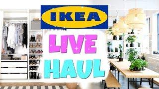 IKEA LIVE HAUL 😍 | ICH KAUFE DIE MÖBEL FÜR MEINE NEUE WOHNUNG! ♡