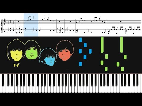 The Beatles - All My Loving - Piano EASY - Sheet Music & Letter Notes - ROCK