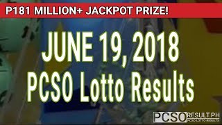 PCSO Lotto Results Today June 19, 2018 (6/58, 6/49, 6/42, 6D, Swertres, STL & EZ2)