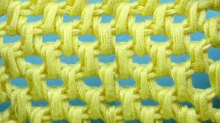 Соты   ажурный узор вязания крючком   Tunisian crochet pattern  73