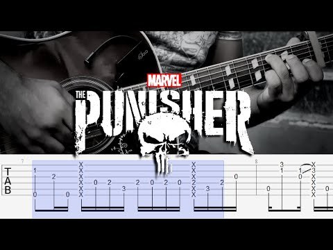 THE PUNISHER - Frank's Choice (Guitar Chords Tutorial) Theme Soundtrack - Tyler Bates