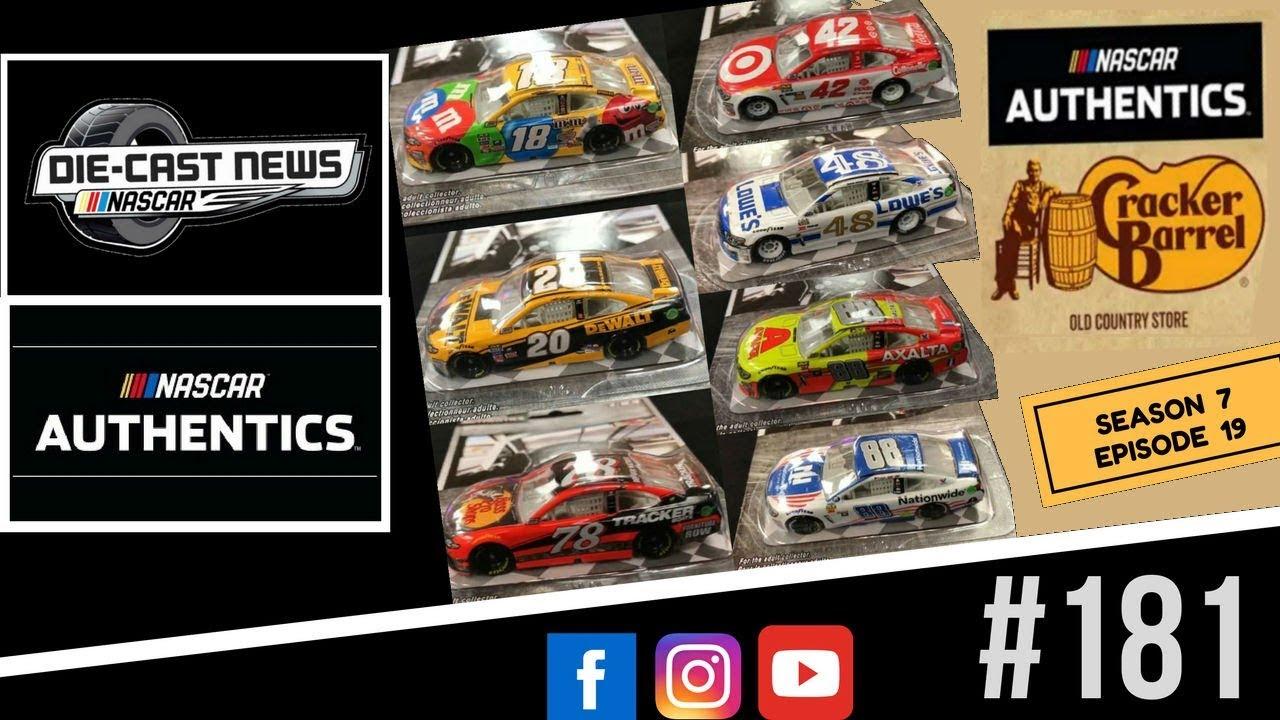 NASCAR Die-Cast News 181 (NASCAR Authentics at Cracker Barrel!?!) - YouTube
