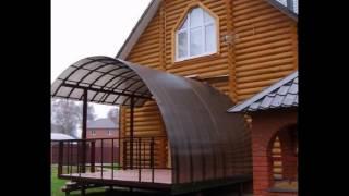 Навес из поликарбоната своими руками на даче: схема (фото и видео)