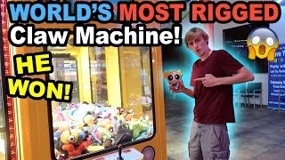 SML BEATS The WORLD'S MOST RIGGED Claw Machine!!
