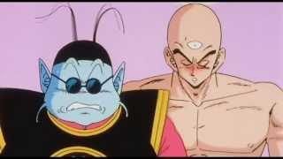 Dragon Ball Z- Tien tries to get King Kai to laugh