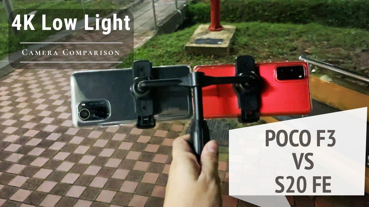 Poco F3 vs Galaxy S20 FE Low Light 4K Video Camera Comparison