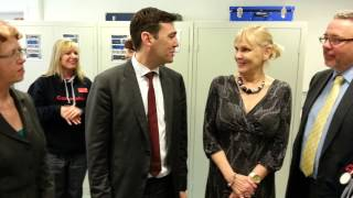 Shadow Health Secretary Andy Burnham at Staffordshire University