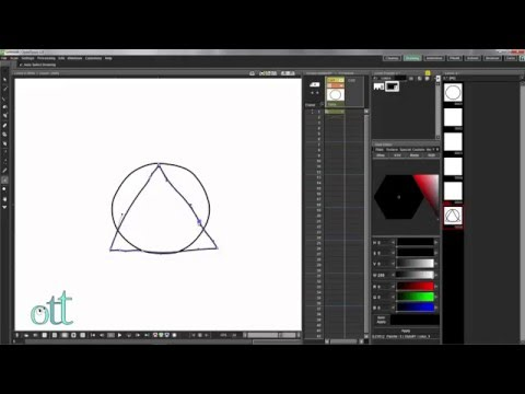 OpenToonz:  Morphing a Circle Into a Triangle