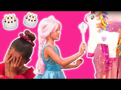 Princess Birthday Party 🎉 Olivia's House Gets Very Messy! - Princesses In Real Life | Kiddyzuzaa