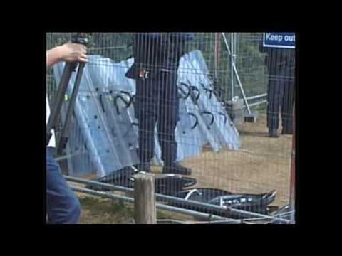 POLICE STATE NAZI STYLE Eviction #Balcombe Fracking Protest Frack Off Sussex Truthferretfilms