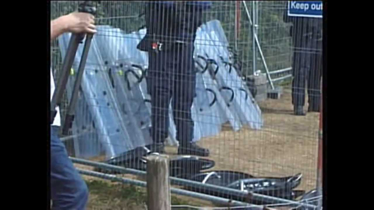 POLICE STATE NAZI STYLE Eviction #Balcombe Fracking Protest Frack Off Sussex Truthferretfilms
