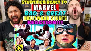 STUNTMEN React To MARVEL Bad & Great HOLLYWOOD STUNTS - REACTION!!!