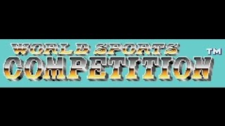 Classic TurboGrafx-16 Game World Sports Competition on PS3 in HD 720p