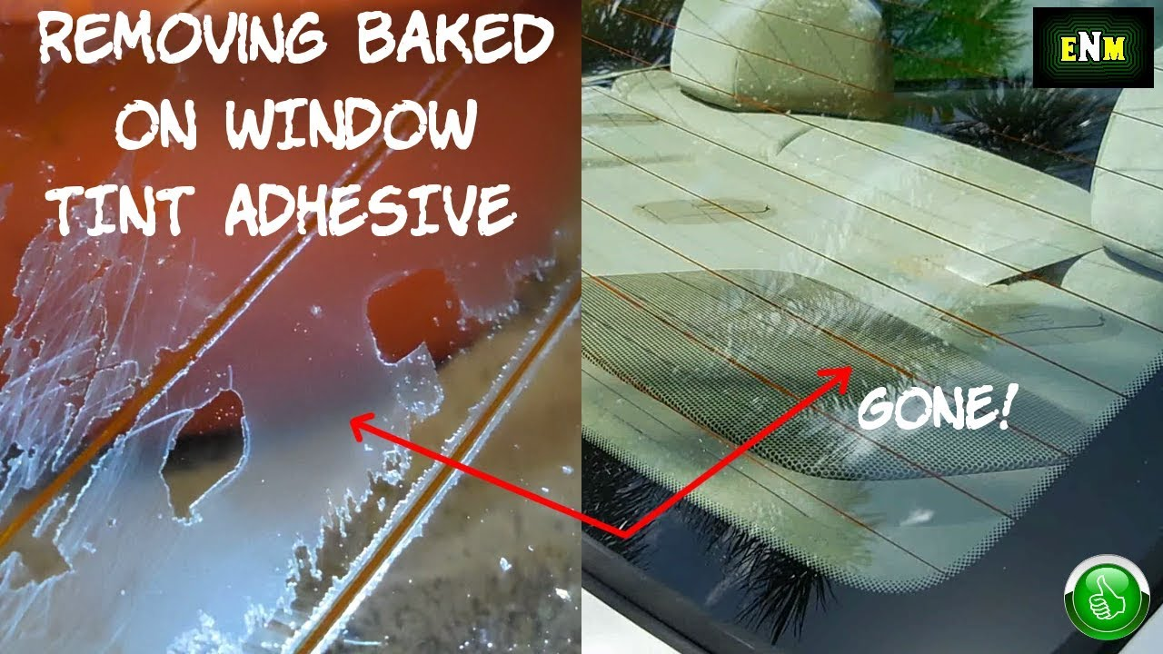 How To Remove Old Baked On Tint From Rear Window Youtube