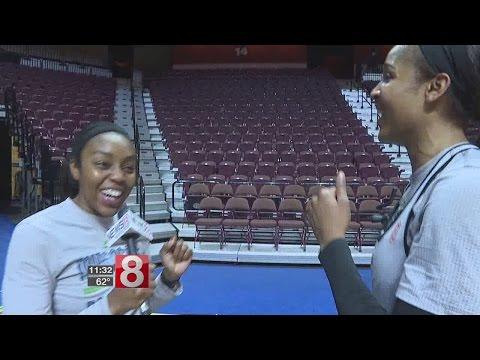 Renee Montgomery interviews former UConn teammate Maya Moore