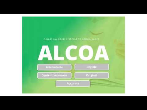 Data Integrity - ALCOA