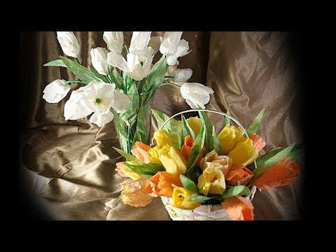DIY   Simple, Realistic Tulips - Coffee Filter Flowers
