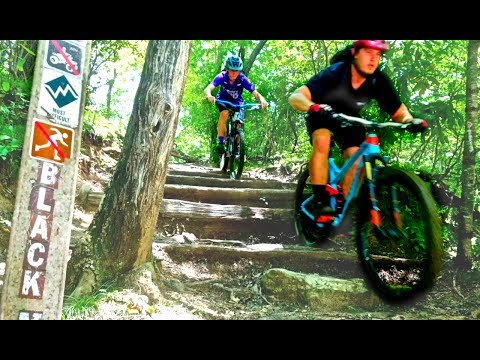 THESE ROOKIES RIDE HARDER THAN YOU (and me!) - Mountain biking the notorious Full Black MT in Pisgah