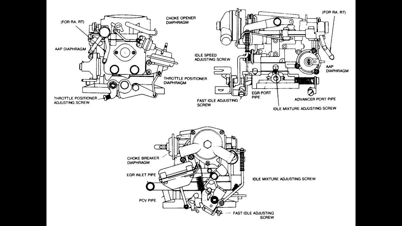 1978 toyota pickup hilux 20r carb adjust vac lines desmogged [ 1280 x 720 Pixel ]