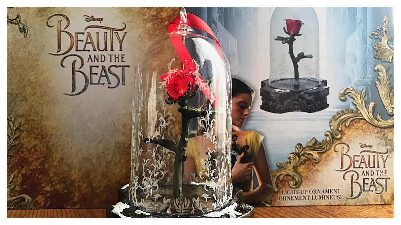 Beauty And The Beast Enchanted Rose Ornament By Disney