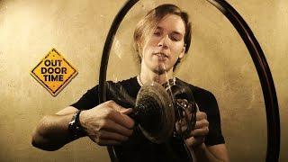 видео снятие заднего колеса велосипеда