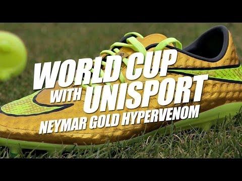 Neymar Gold Hypervenom - World Cup With Unisport