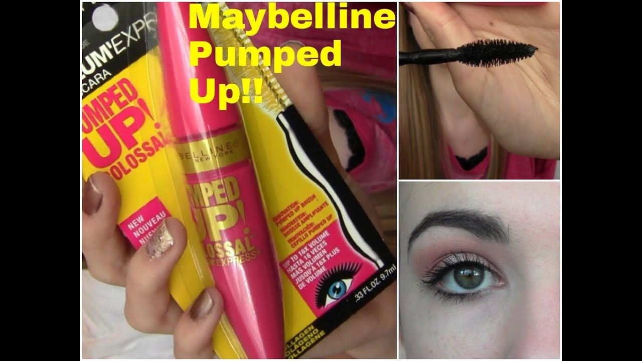 Maybelline Pumped Up Mascara First Impression♡ - YouTube