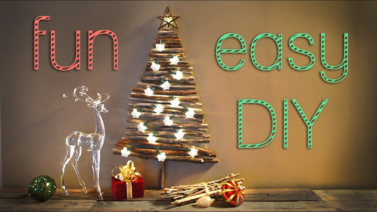 christmas decorations creative christmas tree for small apartments youtube - Christmas Decor Without A Tree