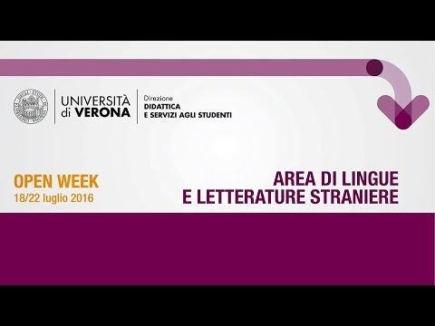 Presentazione Area di Lingue e Letterature Straniere - luglio 2016