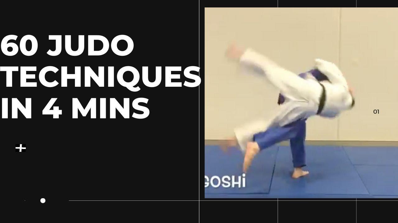 60 judo techniques in 4 minutes (Tachiwaza and Newaza compilation - Matt D'Aquino