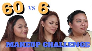 60-Minute vs 6-Minute Makeup Challenge!!