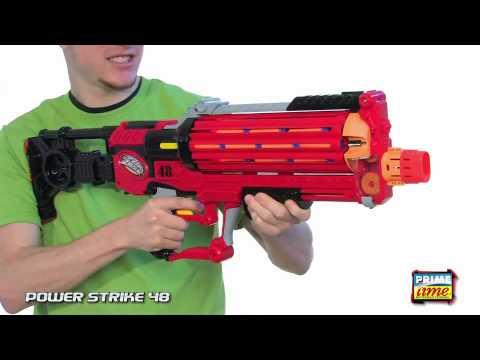 Prime Time Toys AirZone PowerStrike 48 Dart Gun YouTube