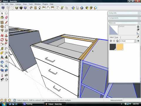 SketchUp Kitchen design Dynamic Components