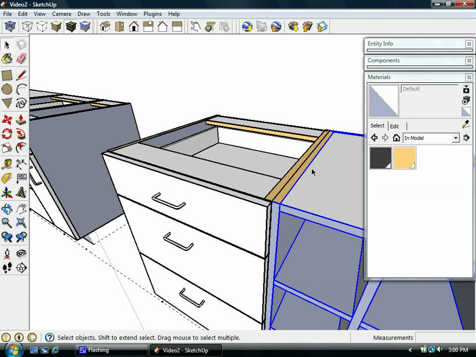 Sketchup kitchen design dynamic components 39 cabinets 39 doovi Kitchen design software google sketchup