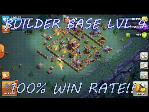 Clash of clans builder base level 4 best layout easy wins Best builder house 4 base